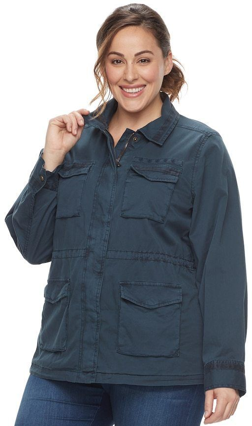 001929f3afb3e SONOMA Goods for Life Plus Size SONOMA Goods for LifeTM Embroidered Utility  Jacket