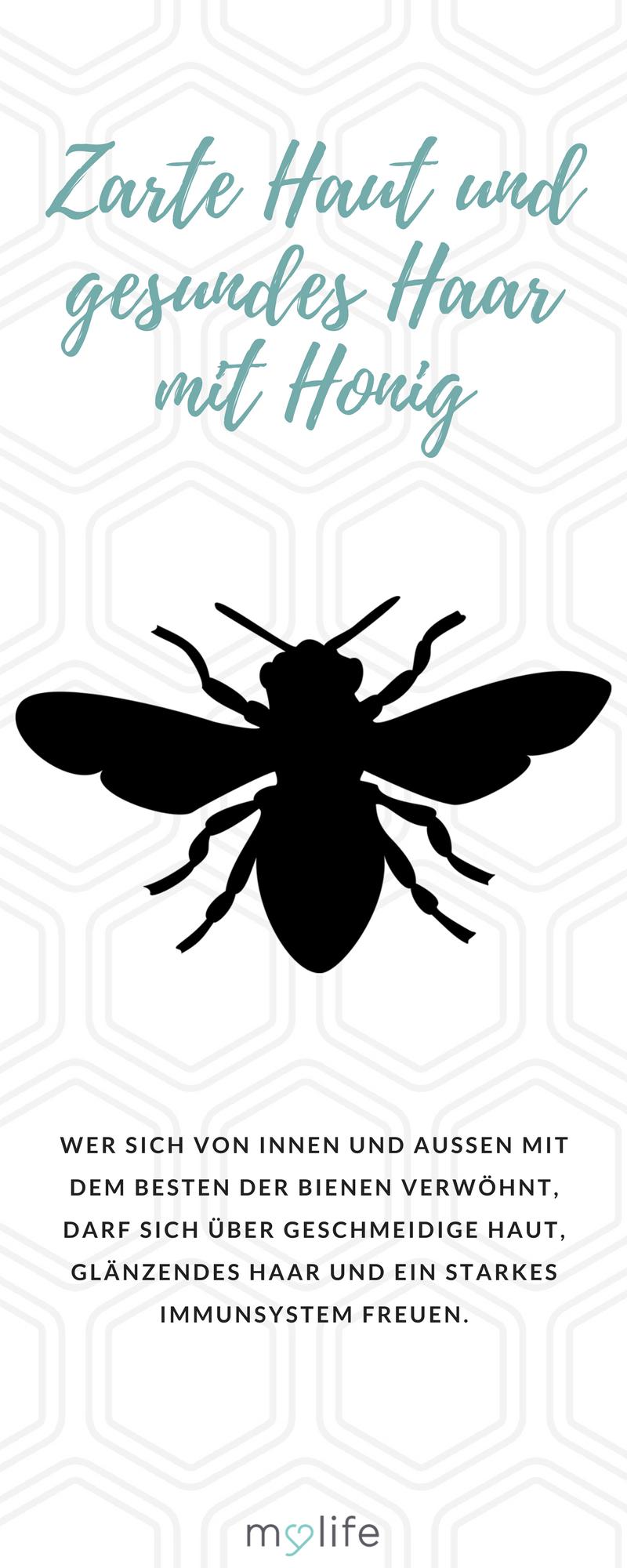 Zarte Haut und gesundes Haar mit Honig | Pinterest