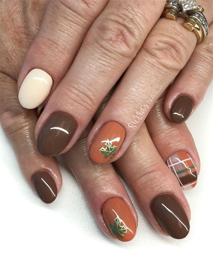 Gel Nail Ideas For Fall Autumn Nail Designs Autumn Fall Nail Colors Acrylic Nails Designs For Fall Nai Classy Nail Designs Fall Acrylic Nails Nail Designs
