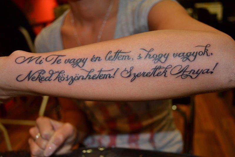anya idézetek tetoválás Idézetek Tetoválás Minták Képek   Westend Tattoo & Piercing in