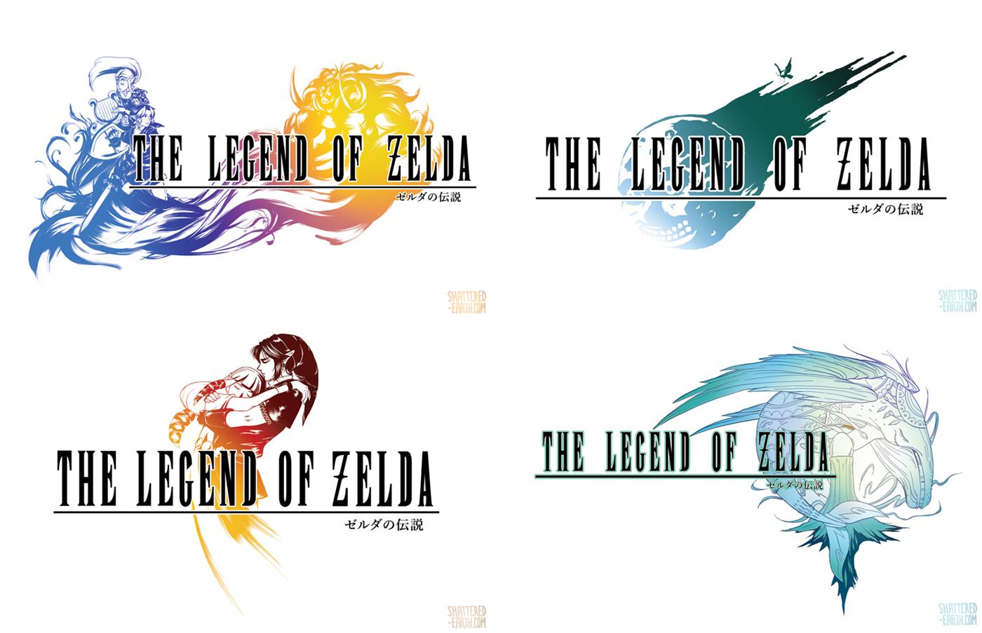 Final Fantasy X Legend Of Zelda Logos Cross Over By Shattered Earth Deviantart Com On Deviantart Zelda Logo Final Fantasy X Legend Of Zelda