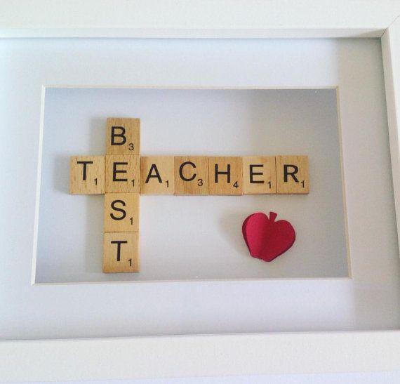 Thank you teacher gift   Teacher gift   Scrabble frame   Teacher ...
