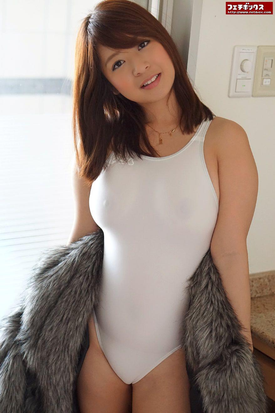858ab14000bd0 尾上若葉 (おのうえわかば) White Swimsuit