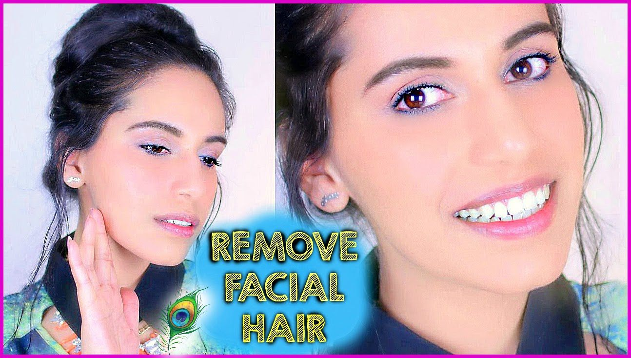 How to Remove FACIAL HAIR Naturally at Home (DIY) with