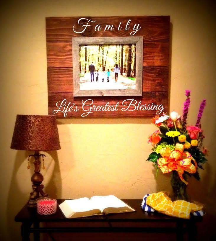 Custom Barnwood Frames - SIGN - LIFE\'S GREATEST BLESSINGS WITH 1 ...