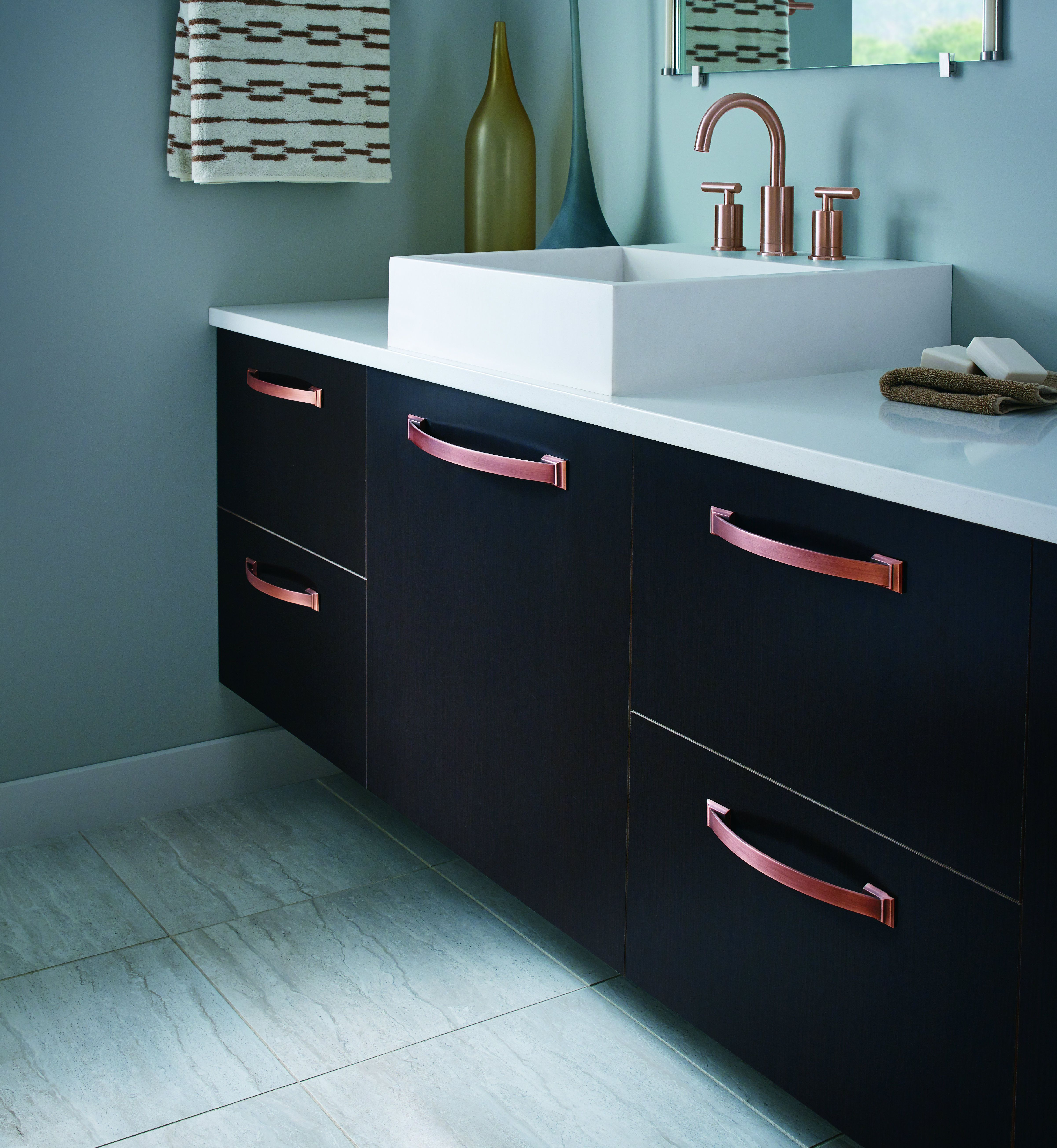 Amerock Candler In NEW Brushed Copper. Decorative Cabinet Hardware