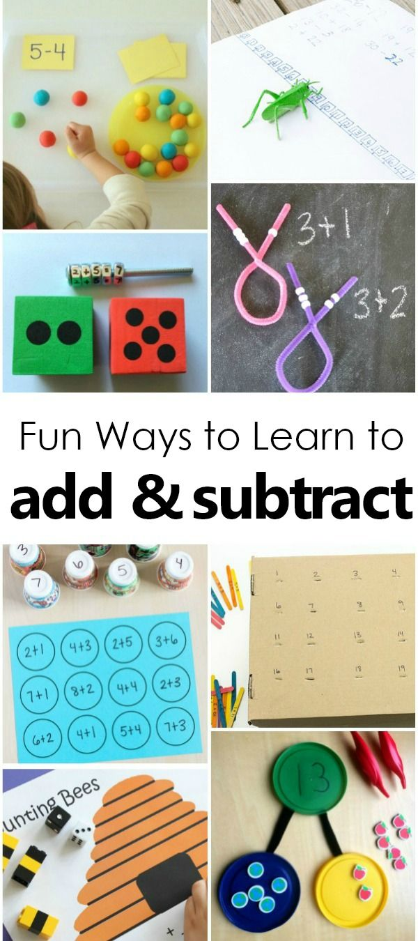Fun Ways To Learn Addition And Subtraction Math Facts Math Fact Games Math Facts Math Activities Preschool Related addition and subtraction facts