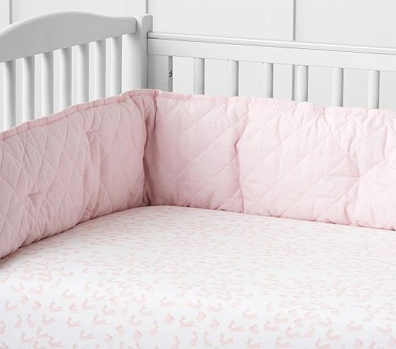 Organic Bunny Crib Fitted Sheet Baby Bedding Sets Baby Bed Fitted Crib Sheet