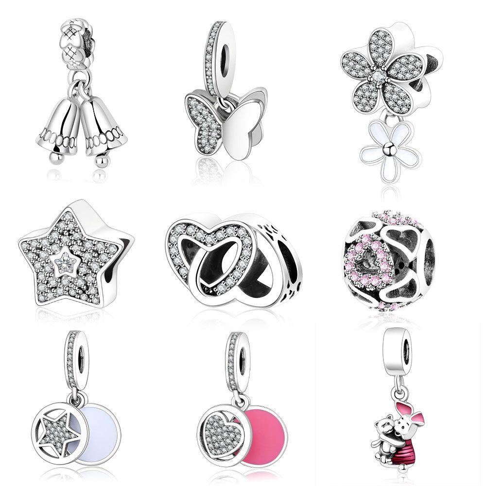98b80407c Authentic 925 Sterling Silver Jewelry Christmas Bell Pendant Beads Jewelry  Making Fits Original Pandora Charm Bracelet Berloque ** Shop 4 Xmas n 2018.