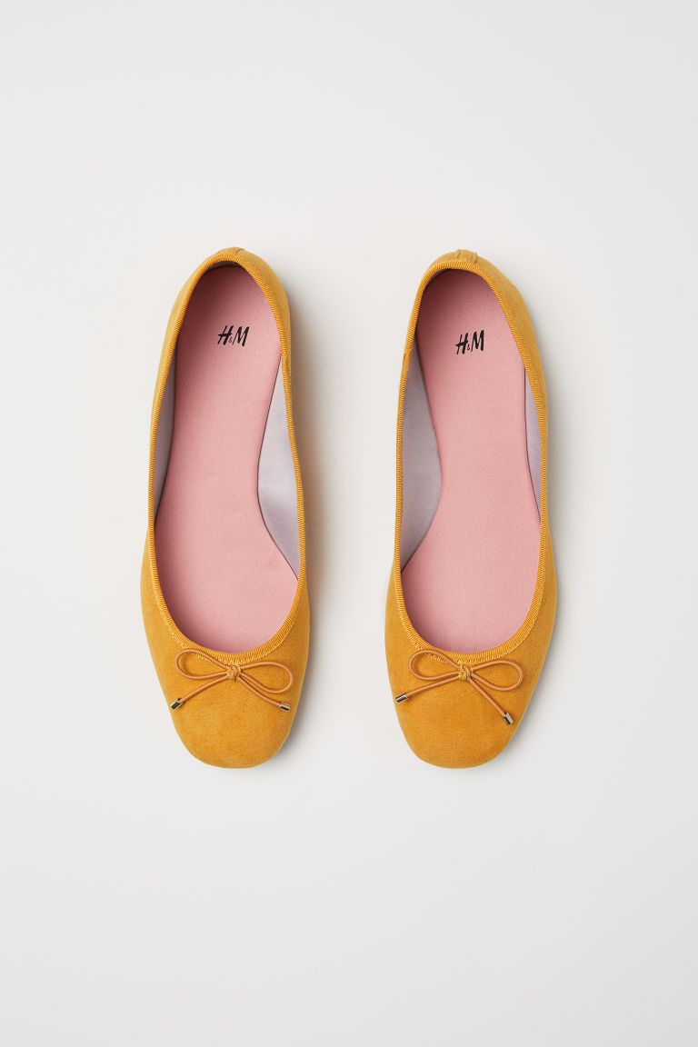 870d864630d28e Ballerines - Jaune moutarde - FEMME | H&M FR 2 | Wishlist ...