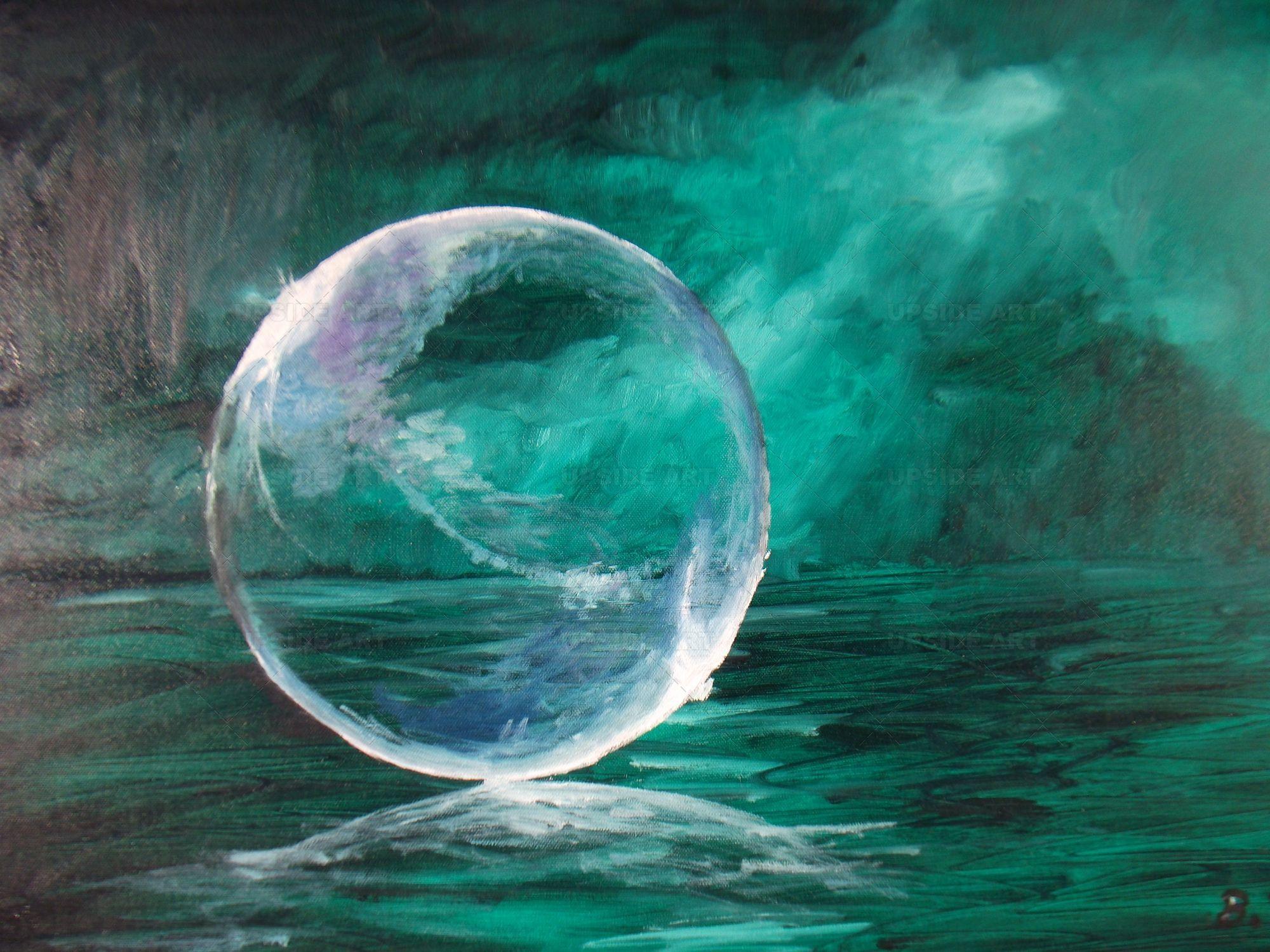 Afficher l'image d'origine   Tableau contemporain, Bulle de savon, Peinture