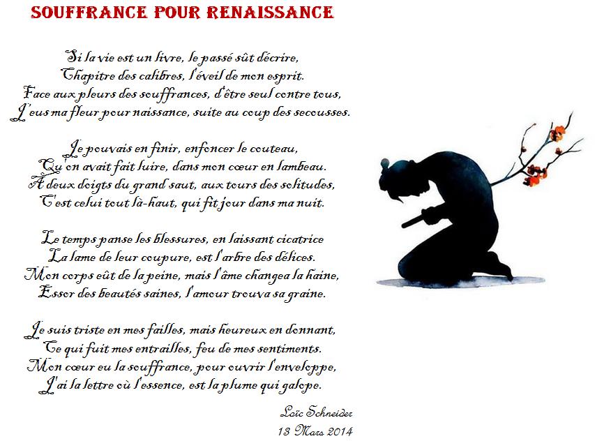 117 Souffrance Pour Renaissance Poeme Poesie Artiste