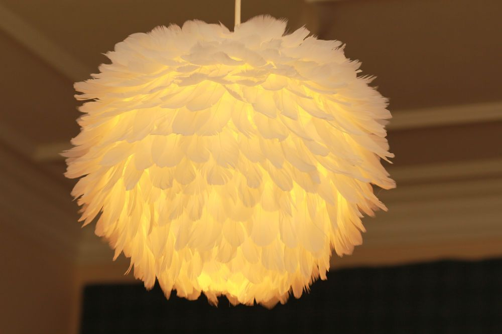 Glowing Angel Goose Feather Ceiling Lampshade Lantern