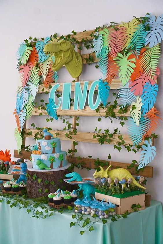 Totally Roarsome Dinosaur Inspired Birthday Party - Pretty My Party - Party Ideas