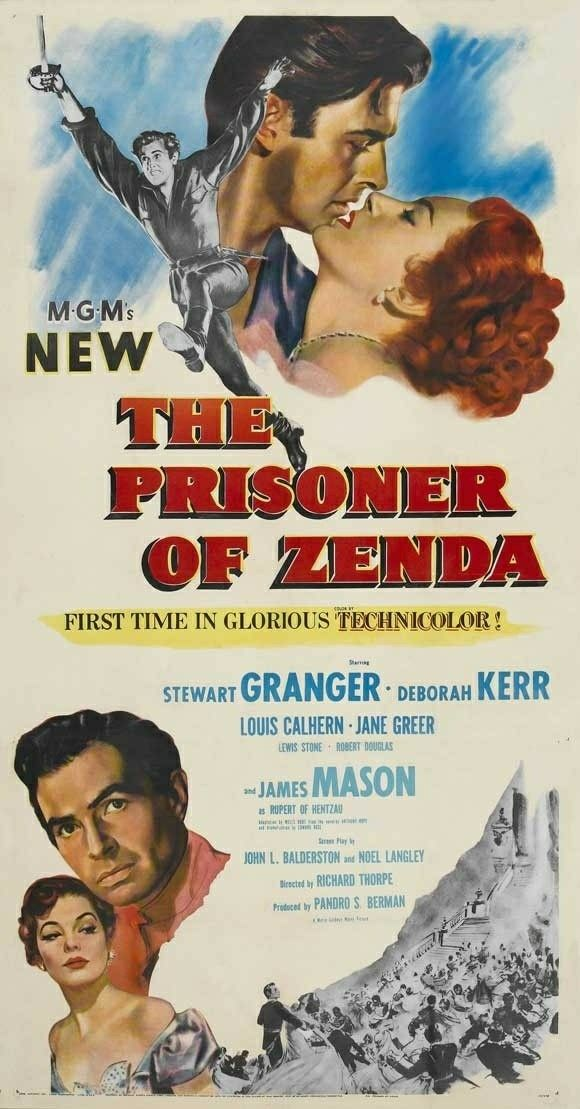 Image result for the prisoner of zenda 1952 poster