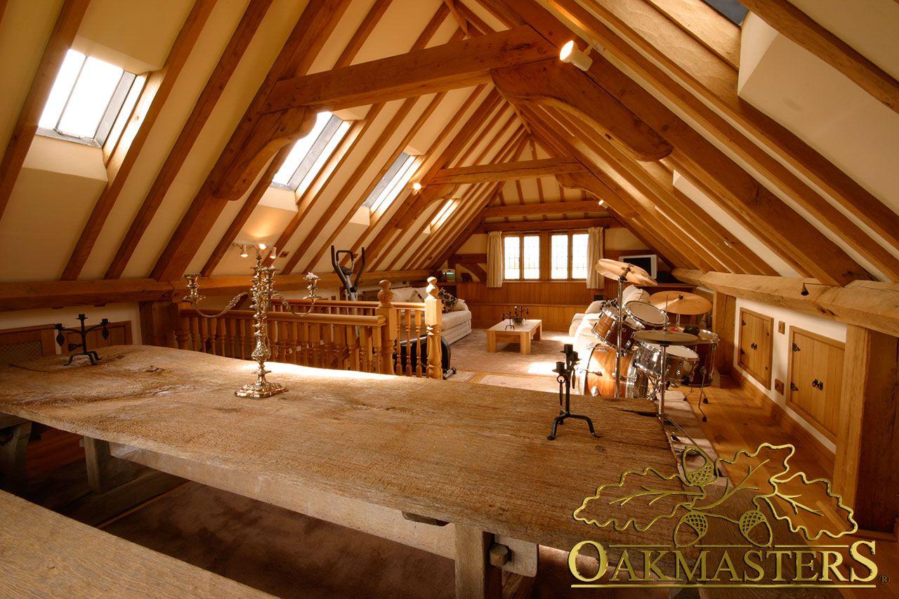 Exposed oak beams Oak framed buildings, Oak frame house