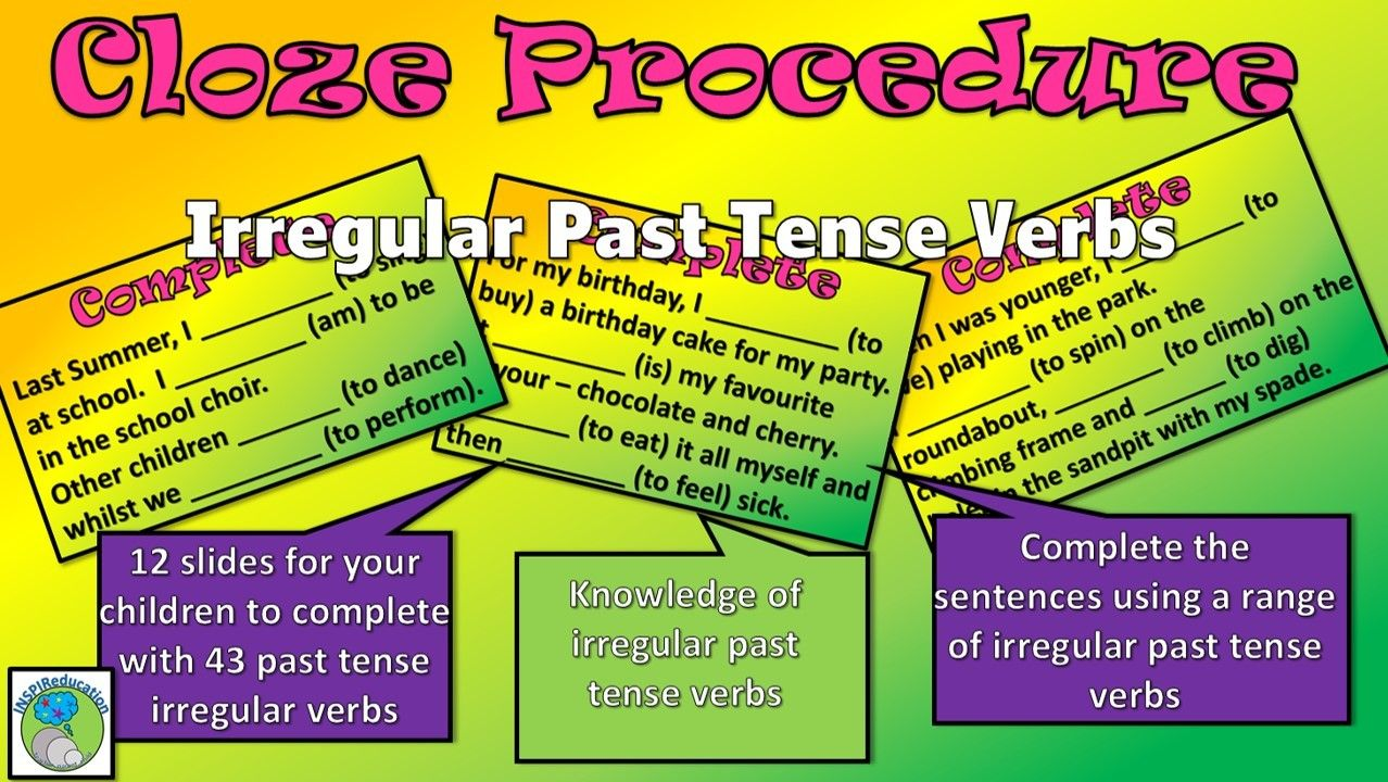 Irregular Verbs Cloze Procedure 12 Passages And 43 Verb Choices Powerpoint Irregular Verbs Verbs Activities Irregular [ 720 x 1278 Pixel ]
