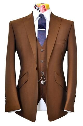 The Ashmore Cinnamon Sorbet Suit