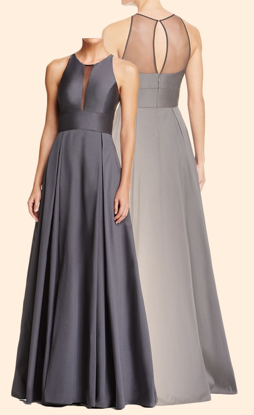 ce8eb36263a Elegant O Neck Chiffon Gray Long Prom Dress Simple Formal Evening Gown  Gorgeous Prom Gown  dress  gown  prom  prom2018  homecoming  formaldress   formalgown ...
