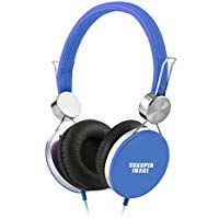 Sharper Image Shp41bl Stereo Headphones With Microphone High