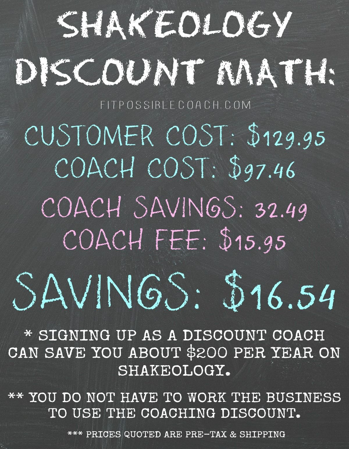 Take advantage of the Discount on Shakeology by signing up ...