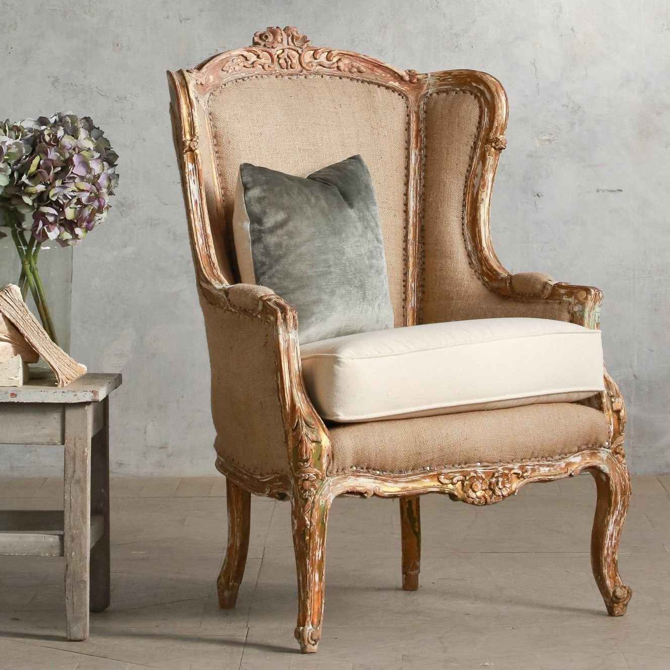 Eloquence One of a Kind Vintage Bergeres Louis XV Distressed Gold #laylagrayce