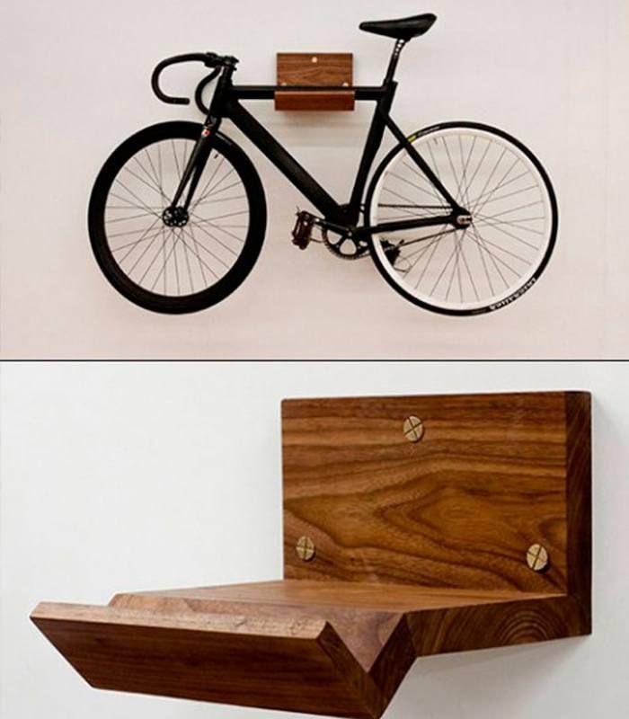 diy suporte minimalista para guardar a bike em casa pinterest m bel fahrradhalter. Black Bedroom Furniture Sets. Home Design Ideas