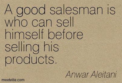 Salesman Salesman Quote Quotes Salesman