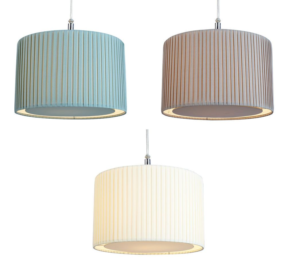 12 30cm Pleated Fabric Diffuser Ceiling Lampshade Pendant Light