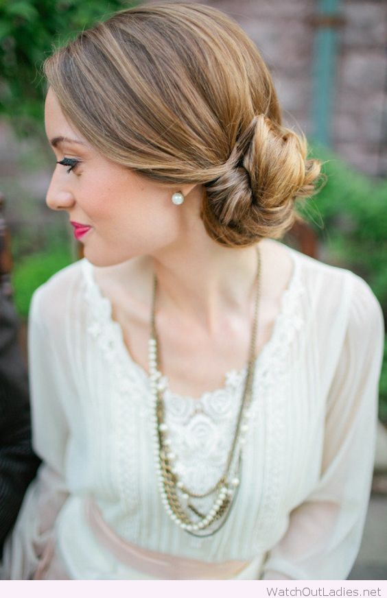 Low side bun for the bride, love her make-up too   STreet SWag ...