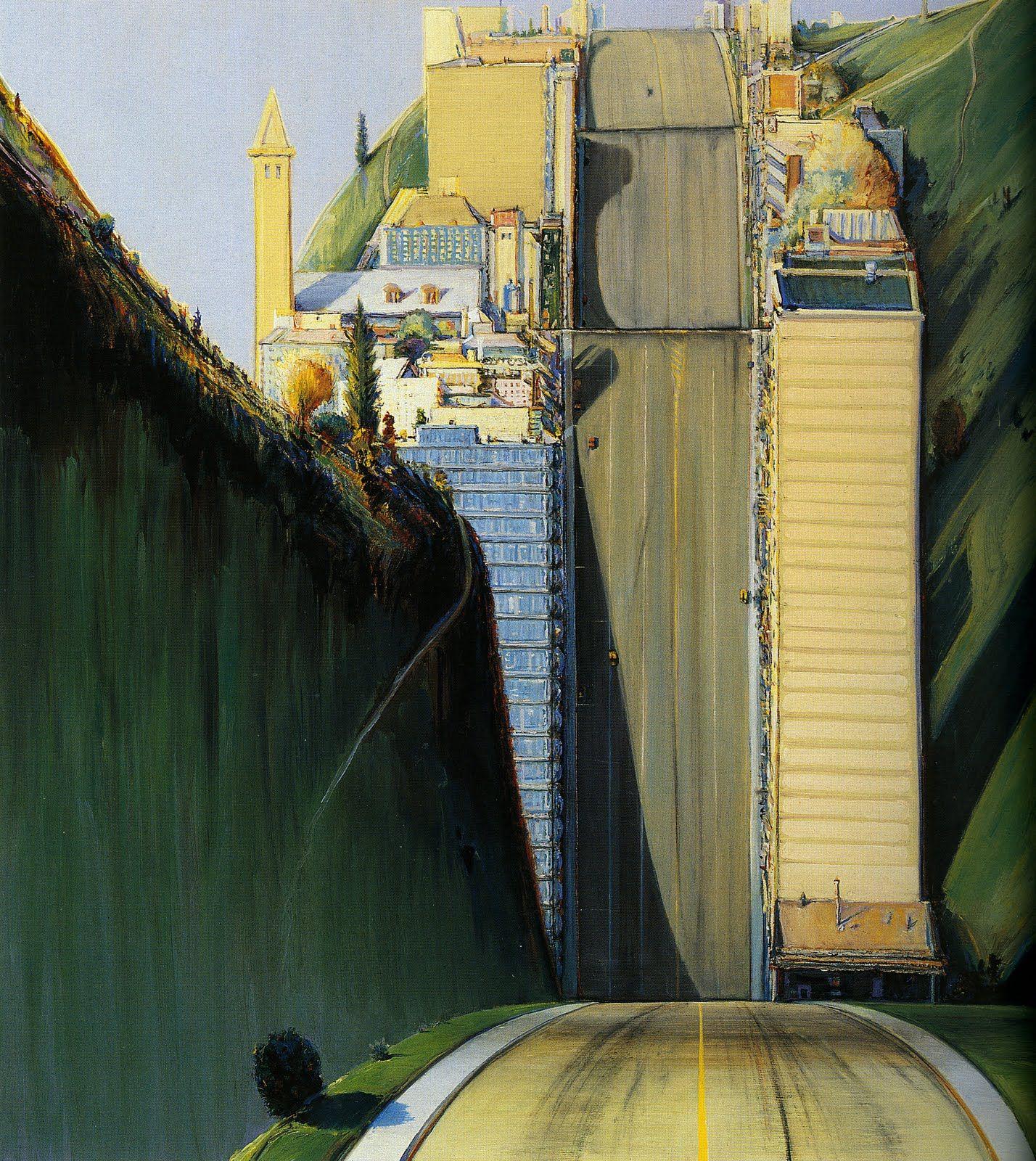 Wayne Thiebaud. Deyoung Museum In San Francisco. Artists Paintings Sculptures Drawings