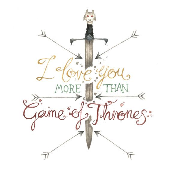 I Love You More Than Game Of Thrones Card Square