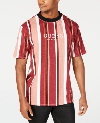 d566aa80e5 GUESS Originals Men Striped Logo T-Shirt in 2019 | Products | T ...