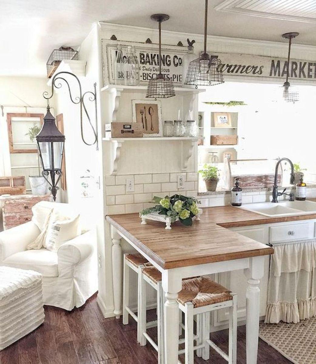 30 elegant farmhouse decor ideas (20) Farmhouse kitchen