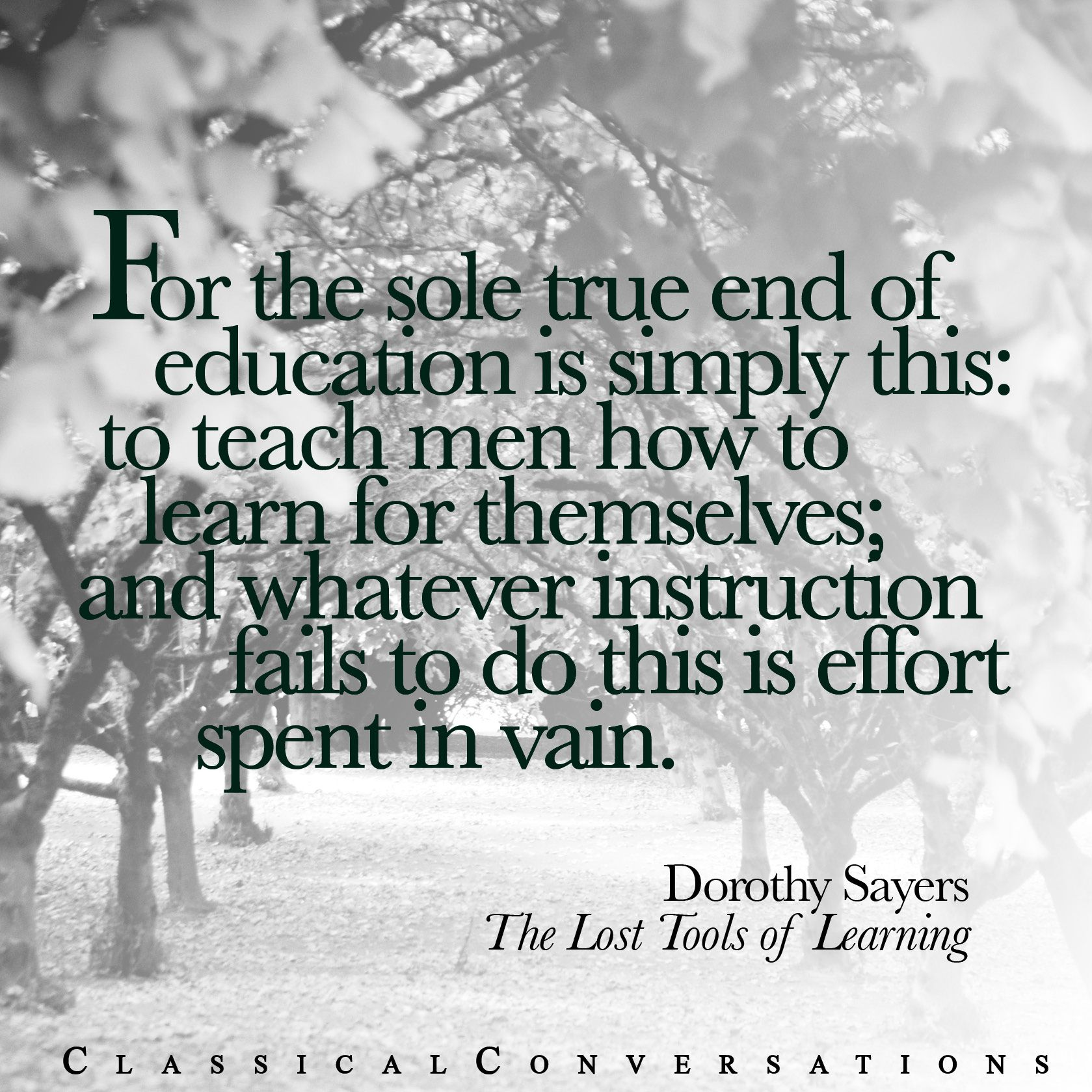 The Lost Tools of Learning #homeschool   Classical Conversations ...