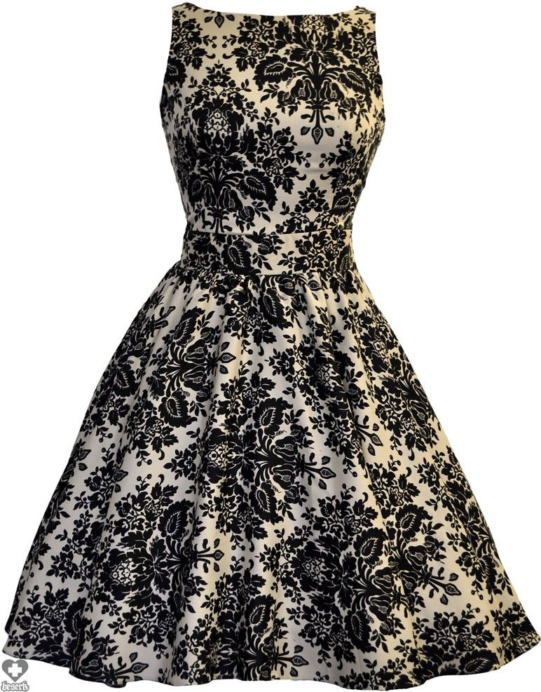 Lady Vintage - Damask Delight Print Tea Dress - Buy Online Australia ...