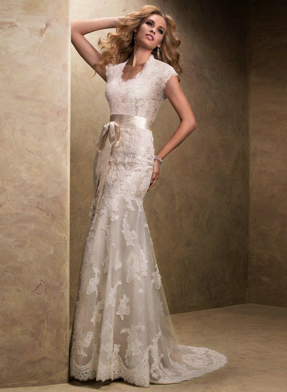 Wedding dress in champagne the dress pinterest for Champagne colored wedding dresses with sleeves