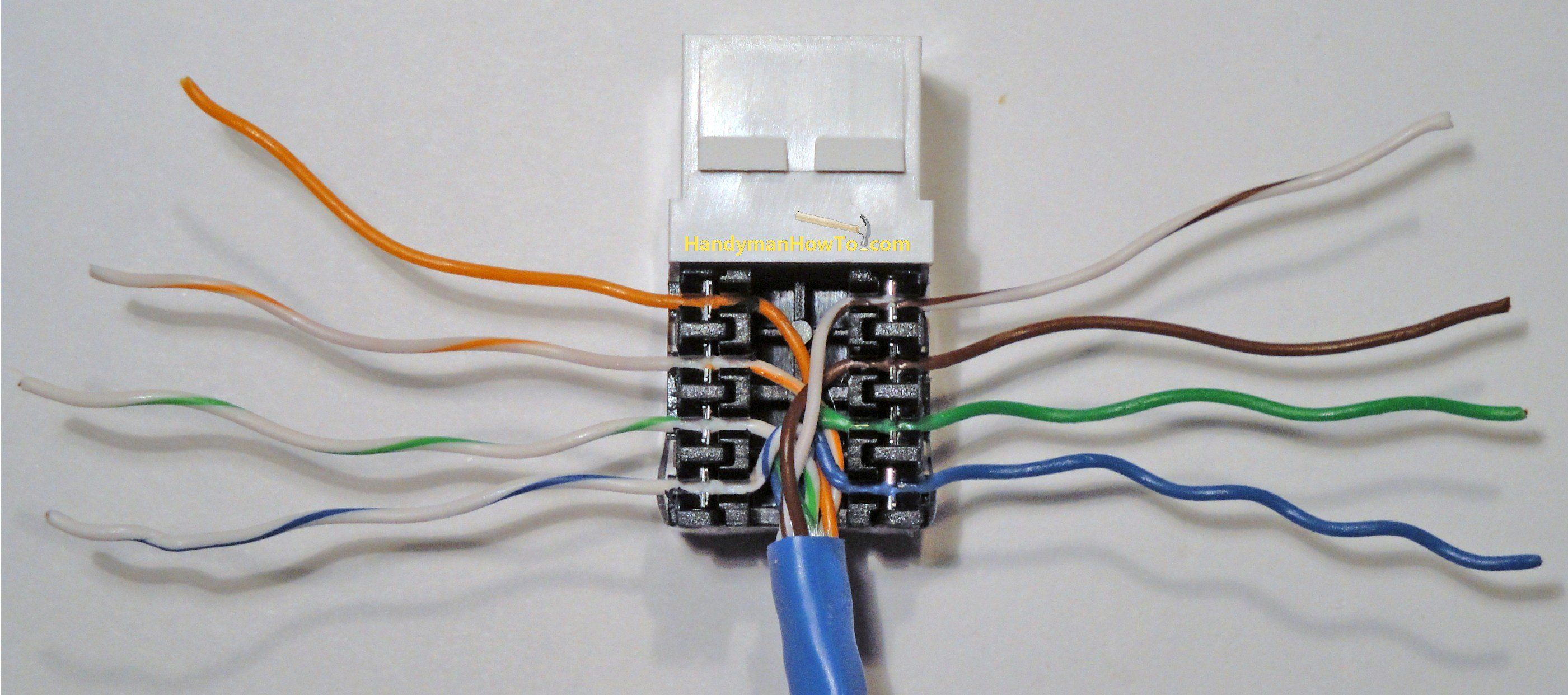 Completed Cat5e Jack Wire Punchdown Ferramentas