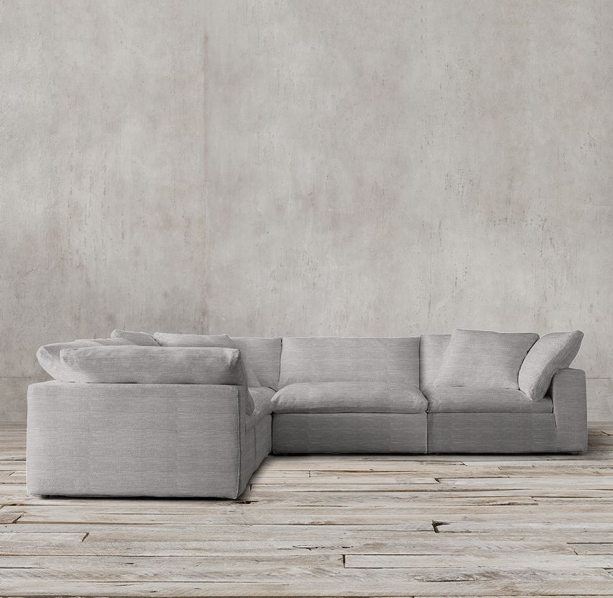 Preconfigured Cloud Cube Modular Corner Sectional- looking like a comfy couch for the living room : cloud sectional sofa - Sectionals, Sofas & Couches