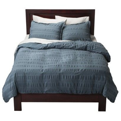 modern master bedroom with threshold seersucker duvet cover set | Target : Threshold™ Seersucker Duvet Cover Set : Image ...