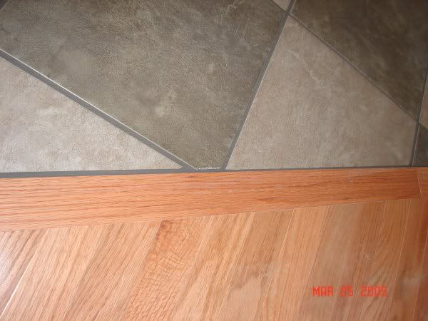 tile to wood transition floor edging