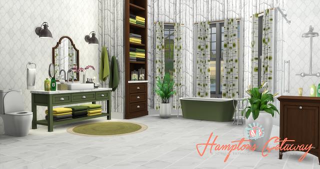 Sims 4 CC\'s - The Best: Hamptons Getaway Bathroom Addon by ...