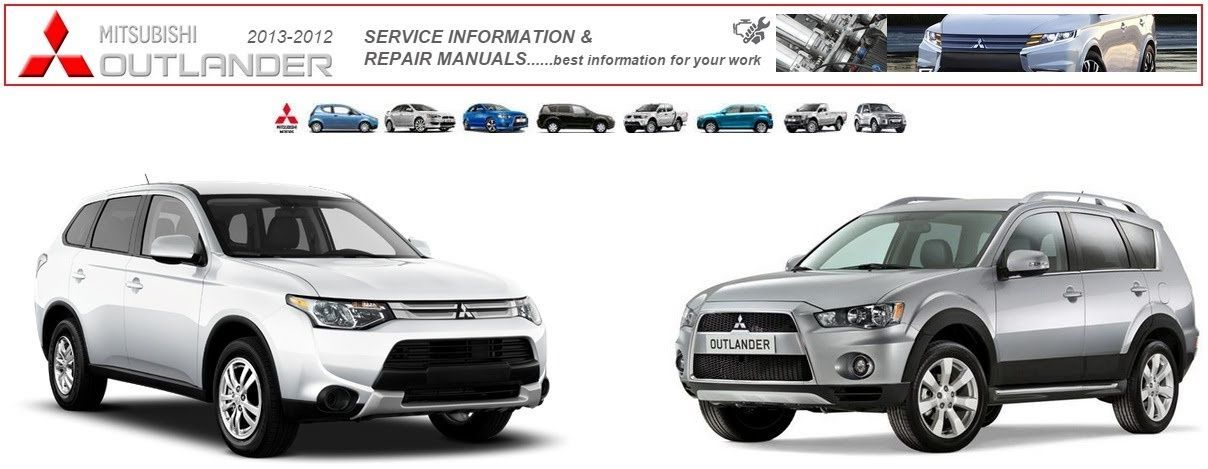 mitsubishi outlander 2012 2013 workshop manuals mitsubishi rh pinterest co uk mitsubishi outlander 2013 user manual mitsubishi outlander 2013 owners manual