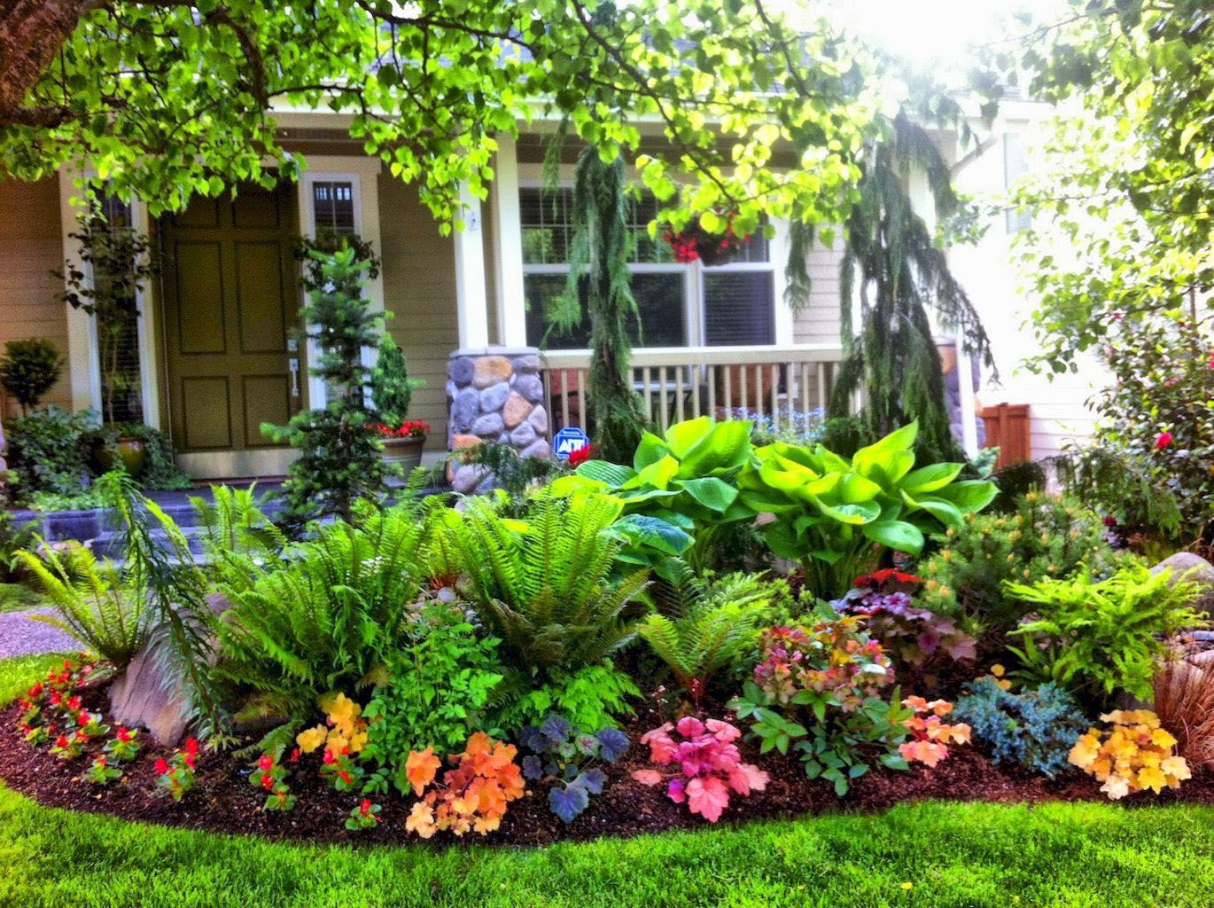 Different Front Garden Ideas Houzz Only On This Page Shade Garden Design Front Yard Landscaping Design Porch Landscaping