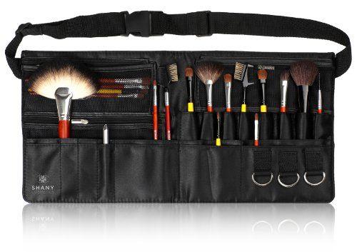 Shany Cosmetics Professional Cotton Makeup Apron With Makeup Artist Brush Belt Light Weight 8 Professional Makeup Brushes Professional Makeup Shany Cosmetics