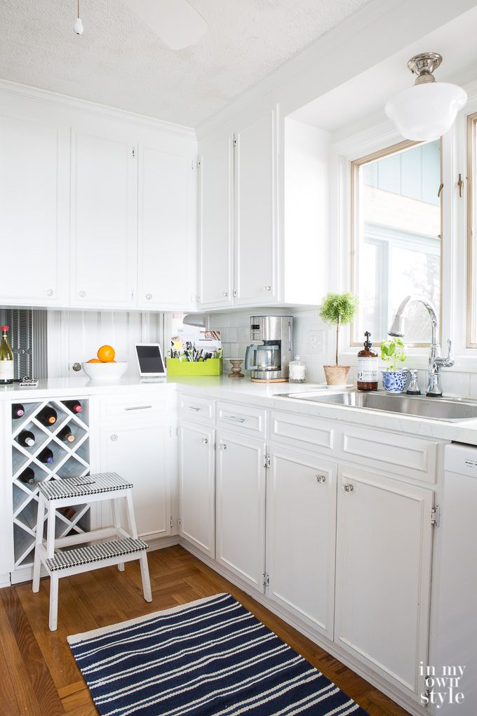 Spring kitchen decorating ideas for a white kitchen | Home and ...