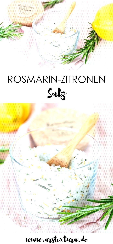 Rosemary Lemon Salt ars textura - DIY blog - You can easily make rosemary-lemon salt yourself. Hom