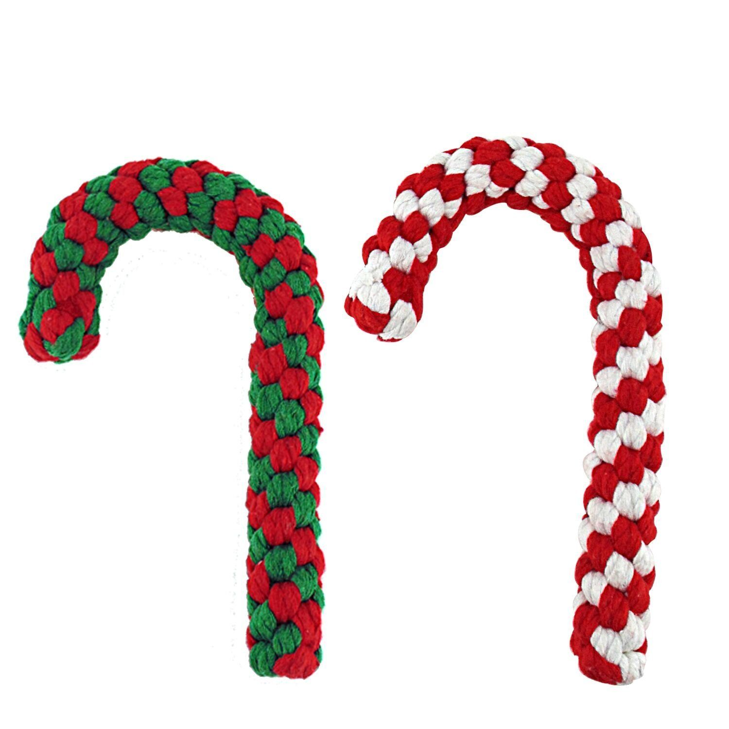 Candy Cane Rope Toy Puppy Chew Dog Toys Interactive And Chewing Cotton Rope Toys For Christmas Gift And Christmas Deco Dog Toys Puppy Chew Toys Puppy Chewing