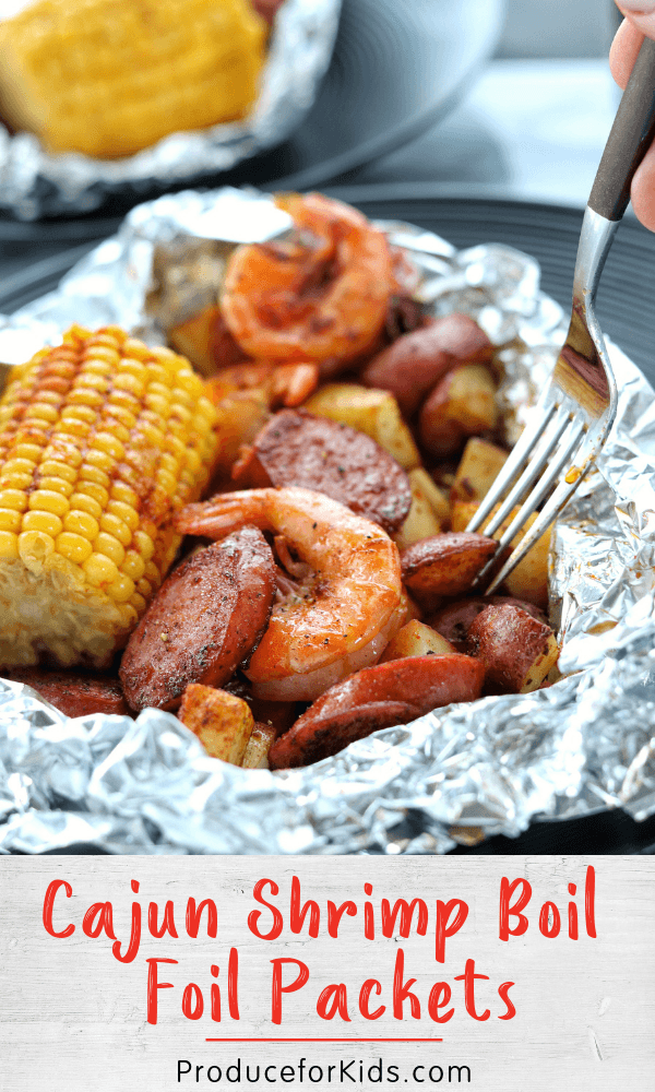 Cajun Shrimp Boil Foil Packets #cajundishes