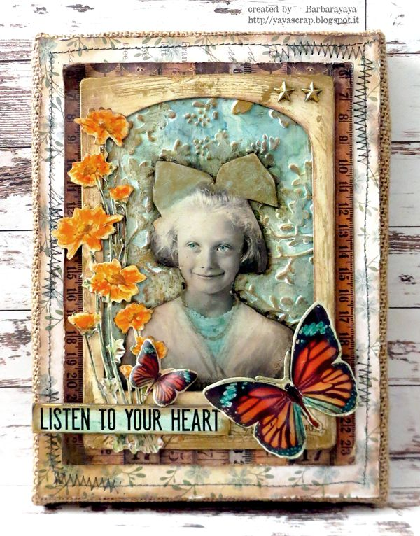 Listen to your heart. Barbara for the Simon Says Monday Challenge blog